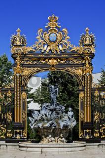 Neptun-Brunnen, Neptune Fountain, Nancy, Lothringen, France