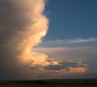 Storm Cloud Gaining Strength Rural Landscape Wyoming Nebraska