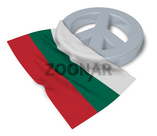 friedenssymbol und flagge von bulgarien - 3d rendering