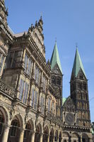Bremen - Town Hall and Bremen Cathedral, Germany