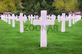 White crosses in an American cemetery