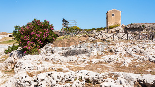 Archaeological Park of Syracuse city in Sicily