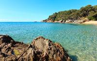 Mediterranean sea rocky coast, Spain.