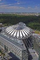Dach des Sony Centers am Potsdamer Platz, Berlin, Tiergarten, De