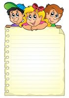 Notepad page with children theme 1 - picture illustration.