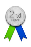 second place award ribbon badge