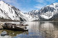 Reflections in Convict Lake in Sierra Nevadas California