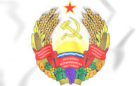 Transnistria coat of arms. 3D Illustration.