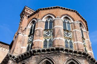 apse of Frari Church in Venice city