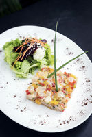 gourmet raw tuna tartare ceviche with mango lime and chilli