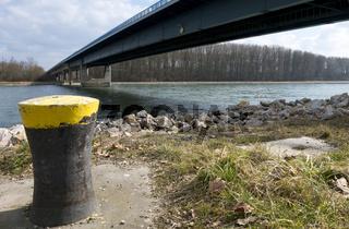 Poller am Rheinufer