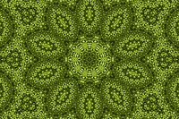 Green background with abstract pattern