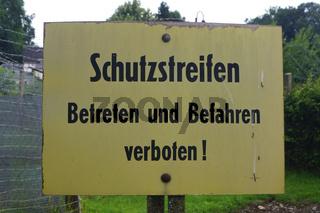 Schutzstreifen,Schild,Mödlareuth