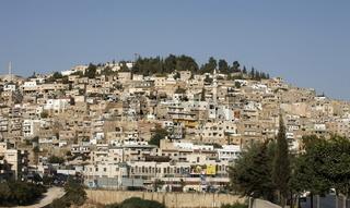 Das Stadt Zentrum der Kleinstadt Salt westlich der Hauptstadt Amman im norden von Jordanien