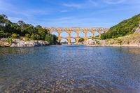 Pont du Gard was built in Roman times on  river Gardon