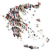Griechenland Karte Leute Menschen People Gruppe Menschengruppe multikulturell