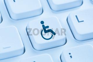 Barrierefreies Internet Computer Webdesign Web blau Computer Tastatur