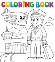 Coloring book aviation theme 1 - picture illustration.