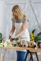 Image of blonde florist girl