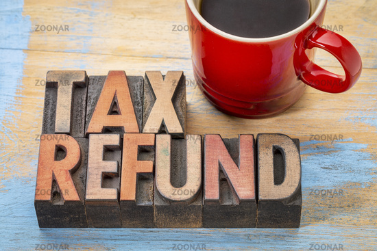 tax refund in wood type
