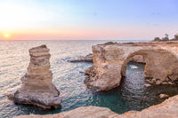 Italy, Santo Andrea cliffs in Puglia