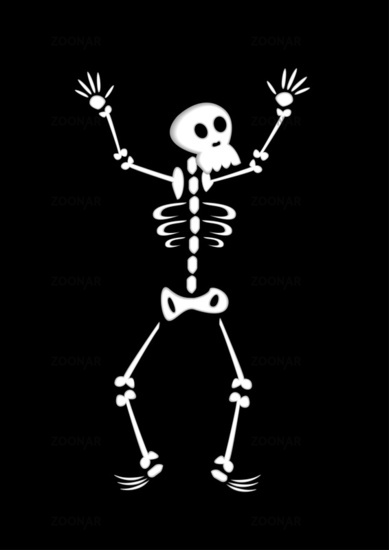 Funny Cartoon Skeleton