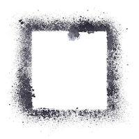 Black stencil frame