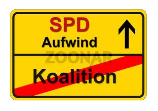 Ortsschild zur Bundestagswahl 2017 der SPD