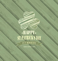 Wooden Saint Patrick's Day Background