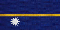 Fahne von Nauru auf altem Leinen - Flag of Nauru on old linen