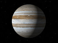 Planet Jupiter done with NASA textures
