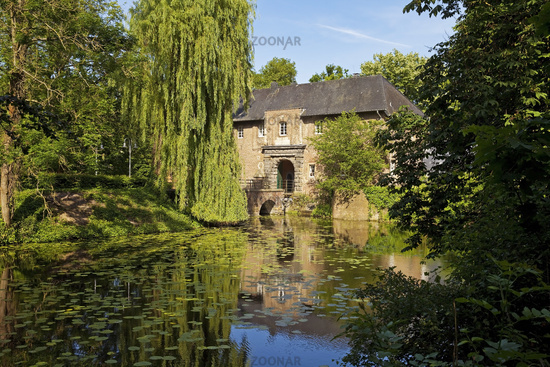 gatehouse Castle Rheydt, Moenchengladbach, Lower Rhine, North Rhine-Westphalia, Germany, Europe