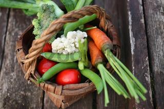 vegetables in basket harvest