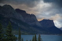 View of Wild Goose Island in St. Mary Lake in Glacier National Park, Montana