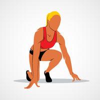 Running, sprinter, athlete