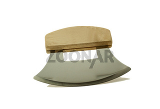 Alaskan ulu knife isolated on a white background