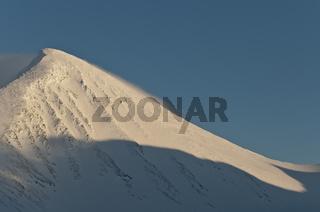 der Gipfel Borgtoppen, Akkamassiv, Stora Sjoefallet Nationalpark, Welterbe Laponia, Lappland, Schweden