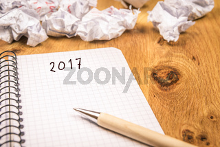 The 2017 new year concept