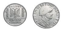 twenty 20 cent LEK Albania Colony acmonital Coin 1939 Vittorio Emanuele III Kingdom of Italy, World War II