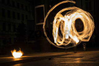 Earth hour fire show circle