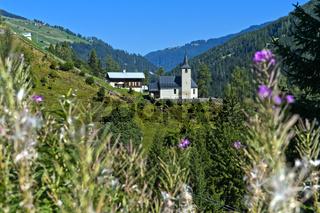 Reformierte Kirche Neukirch, Safiental, Graubünden, Schweiz