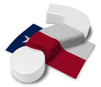 flagge von texas und fragezeichen - 3d illustration