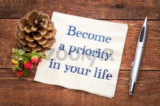 Become a priority in your life