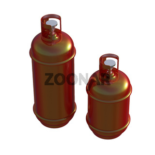 Propane gas cylinder isolated on a white background . 3d illustration