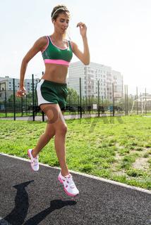 running at outdoor