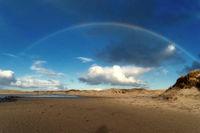 Rainbow on the North Frisian Island Amrum in Germany