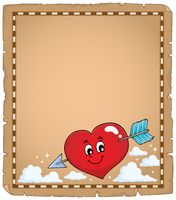 Valentine heart topic parchment 1