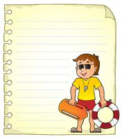 Notepad page with life guard