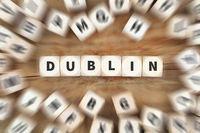 Dublin Stadt Irland Reise reisen Würfel Business Konzept