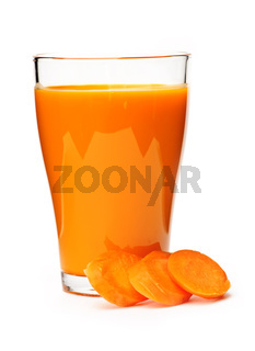 Carrot juice in glass